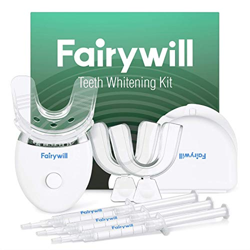 Fairywill Teeth Whitening Kit with Led Light, Reduced Sensitive Teeth Whitener Kit, 35% Carbamide Peroxide 3ml(3) Gel with 5X Blue...