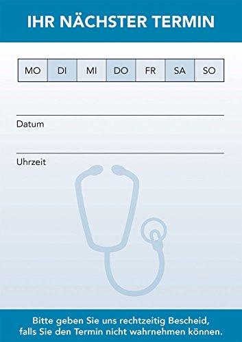 PRICARO Terminblock für Ärzte und Mediziner (20er Pack), Stethoskop