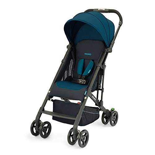 Recaro Kids, Buggy Easylife 2 (6 Monate-22 kg), Buggy 2 in 1 kompatibel mit Babyschale, Leichter Buggy, Kompakt, Einfach zu Bedienen, Hervorragende Luftzirkulation, Sonnenverdeck, Select Teal Green