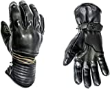 HELSTONS Rider - Guanti da moto invernali in pelle, colore: Nero, T10