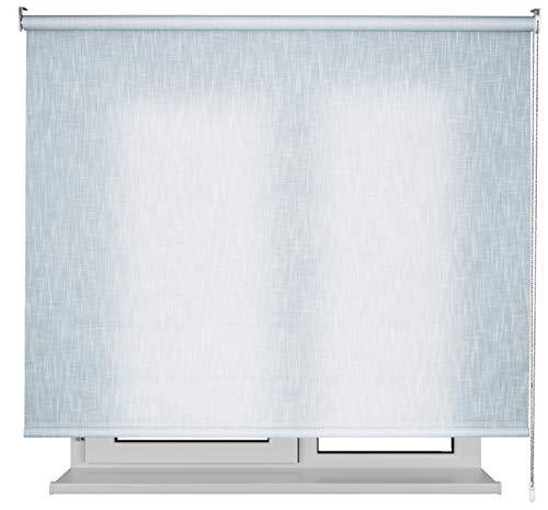 EB ESTORES BARATOS Estor Jaspeado Lino Premium/Permite el Paso de Mucha luz. Elija su Medida de Ancho x Alto. Y LO AJUSTAMOS Mediante UNA Llamada. Color: Azul Claro. Medidas: 150cm x 180cm