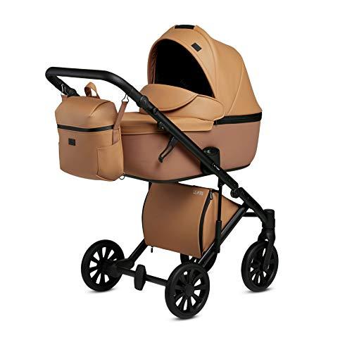 Cochecito combi Buggy deportivo sistema de viaje Anex E/Type (Caramel CrN-13, 2 en 1)