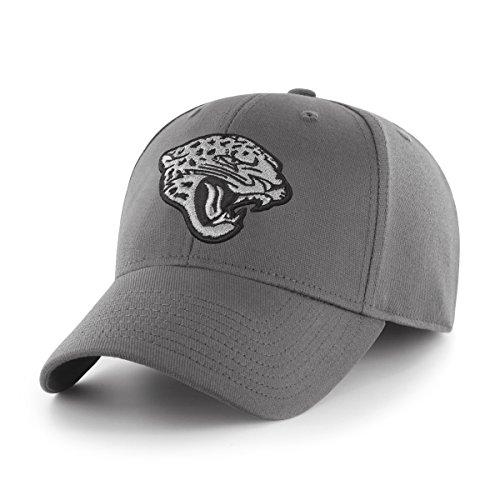 OTS NFL Jacksonville Jaguars Men's Comer Center Stretch Fit Hat, Charcoal, Large/X-Large