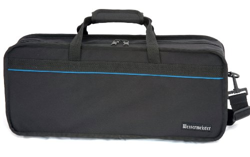 Messermeister 34-Pocket Chef's Satchel with Large Storage Pocket, Black