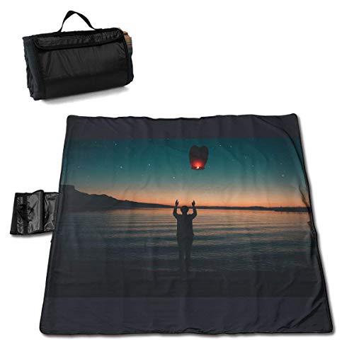 Suo Long Couverture de Pique-Nique Beach Coast Dawn Tapis de Pique-Nique Pliant Le Tapis de Camping Portable