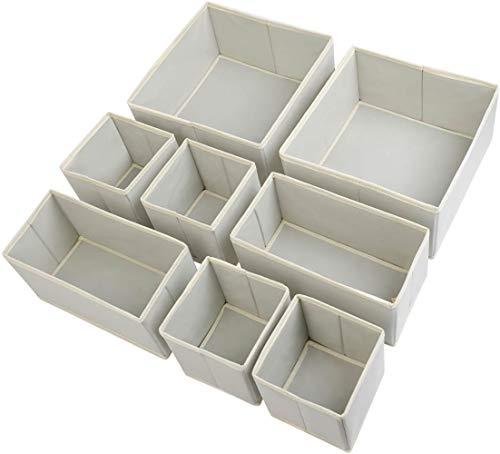 InnoGear Aufbewahrungsbox, Schublade Organizer Kleiderschrankschubladen Divider für für Unterwäsche, Socken, BHS(8 Set)
