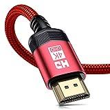 4K HDMI ケーブル2m HDMI 2.0規格ハイスピード HDMI Cable 4K 60Hz/3840p/2160p UHD 3D HDR/保証付き/18gbps高速イーサネットARC hdmi ケーブル - 対応 パソコンの画面をテレビに映す Apple TV,Fire TV Stick,PS4/PS3,Xbox, PC,Nintendo Switchなど適用 (赤)
