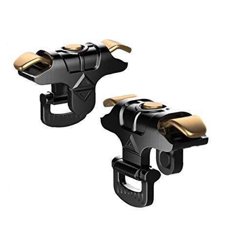 NaiCasy Gioco Trigger Telefono Joystick Grip Trigger Pubg Joystick per Smartphone Black Gold 1Pair