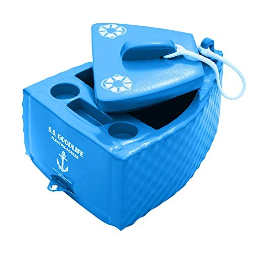 TRC Recreation Water Resistant Floating Super Soft Goodlife Drink Kooler for Water Adventures and Activities, Blue