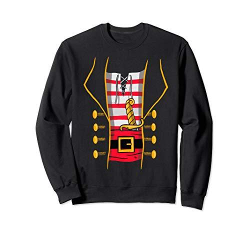 Pirate Costume Top for Halloween - Bucaneer Novelty Print Sweatshirt