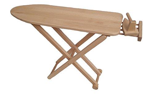 Holzspielzeug-Peitz Kinder-Bügelbrett 5009 - mit Bügeleisen - handgefertigt - Massivholz - klappbar