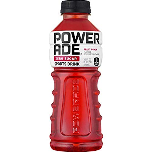 POWERADE ZERO Fruit Punch Sports Drink, Family Pack, 20 fl oz, 24 Pack