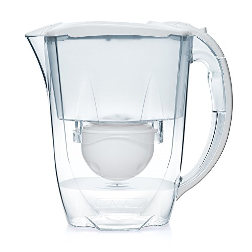 Aqua Optima FJ0550 Confezione 6 Mesi-caraffa filtrante per Acqua Oria con 3 cartucce filtri per 60 Giorni, Plastic, White, 2.8L