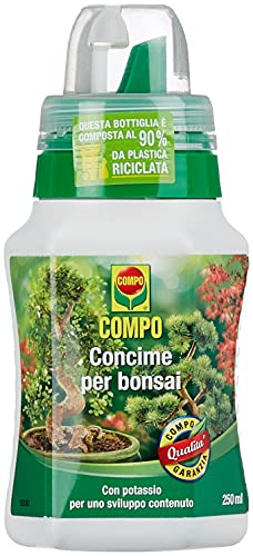 COMPO Concime Liquido per Bonsai, Per bonsai da interno e da esterno, Con tappo graduato, 250 ml