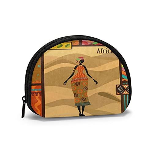 Monederos africanos florales para niña, bolsas para monedero, para adolescentes, bolsa práctica para auriculares, portátil, mini cambio, carteras para mujeres y niñas de 4.7 x 3.5 pulgadas