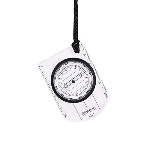 ZHINANZ Multifonctionnel Mini Boussole Carte Règle en Plein Air Randonnée Camping Kit De Survie Portable Affichage Compas Navigation