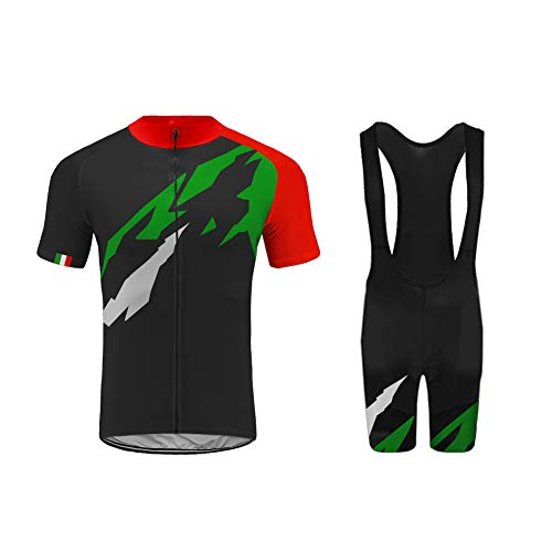 Uglyfrog 2019 Farbabstimmung der Flagge Designs Herren Pro Rennen Team MTB Radbekleidung Radtrikot Kurzarm und Radhosen Anzug Cycling Jersey Shorts Suit