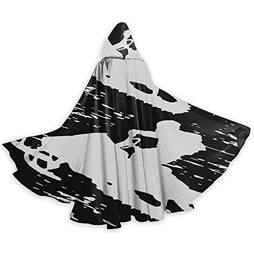 KDU Fashion Witch Cape, suède motorslee, mantel met capuchon, personaliseerbaar, voor jongens en meisjes, 40 x 150 cm