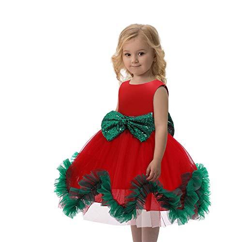 B&H-ERX Kids Kerst Jurk Voor Meisjes Kostuum Kinderen Avond Feestjurk Verjaardag Tutu Prinses Jurk 2-10 Jaar