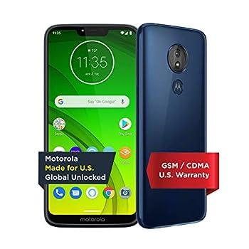 Moto G7 Power with Alexa Push-to-Talk – Unlocked – 32 GB – Marine Blue  US Warranty  – Verizon AT&T T–Mobile Sprint Boost Cricket & Metro