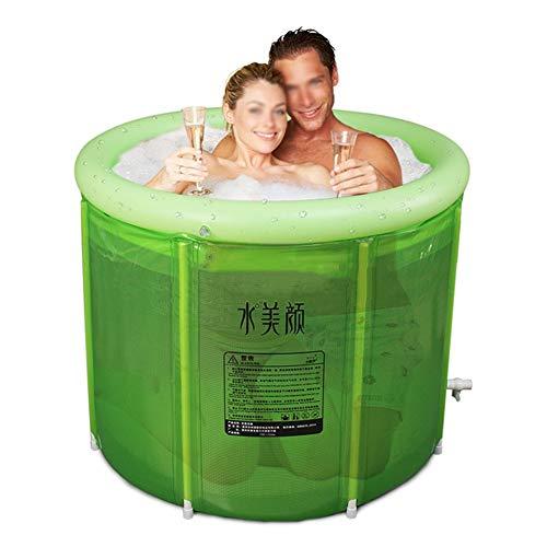 ZFF Badewanne Falten Tragbar Badefaß Spa Erwachsene Zuhause Einweichbäder Aufblasbar Dick Plastik Wasserwanne Groß Größe 100 * 72 cm