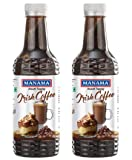 Manama Irish Coffee Syrup for Dessert Toppings, 500ML Each, Pack of 2