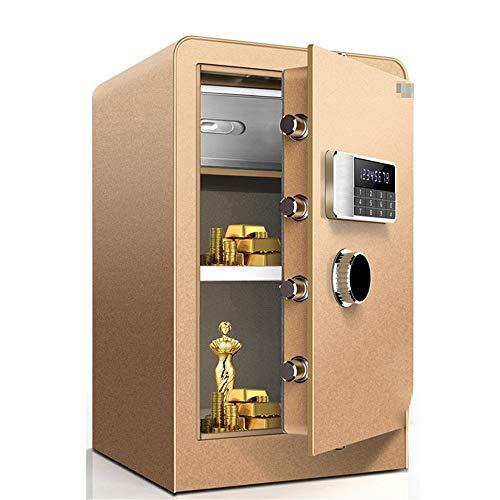 Caja Fuerte para Muebles Caja de Seguridad Digital for Home Office Hotel joyería Efectivo de Almacenamiento para Uso doméstico o de Oficina (Color : Gold, Size : 38x36x60cm)