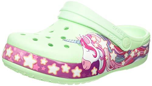 Crocs Unisex-Kinder Funlab Unicorn Band Kids Clogs, Grün (Neo Mint 3ti), 22/23 EU