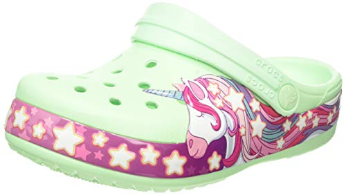 Crocs Unisex-Kinder Funlab Unicorn Band Kids Clogs, Grün (Neo Mint 3ti), 28/29 EU