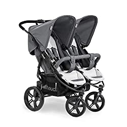 TWIN AND SIBLING STROLLER - suitable for two children or new-borns in combination with the separately available Hauck 2 in 1 Carrycot FITS THROUGH DOORS - Despite the children sitting side by side, Roadster Duo SLX fits through doors and elevators as...