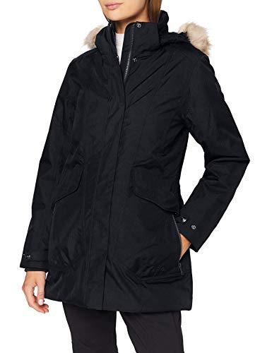 CMP Parka Climaprotect con capucha Eco Fur - Chaqueta para mujer, Mujer, Chaqueta, 30K3886, Negro , 48