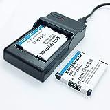 F-MINGNIAN-SPRING Cámaras Quick Battery 2 Pack y USB Rapid Travel Baterías Cargador Kit de Repuesto Compatible con Canon NB-11L, NB-11LH Paquete de baterías Recargables de Iones de Litio