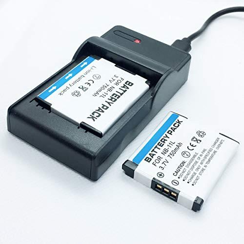 Cámaras Quick Battery 2 Pack y USB Rapid Travel Baterías Cargador Kit de repuesto para Canon para PowerShot ELPH 150IS, ELPH 160IS, ELPH 170IS, ELPH 180IS Accesorios para cámaras digitales