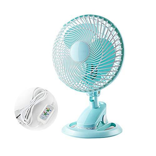 Chihen elektrische tafelventilator, 2 snelheden, mini-ventilator, klein, stil, ventilator, grote wind, kantoor/bed/huis, blauw