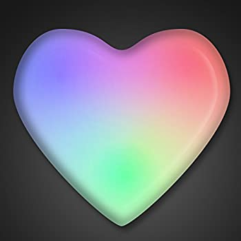 Aurora Color Changing LED Heart Light Up Body Lights Lapel Pins  25-Pack