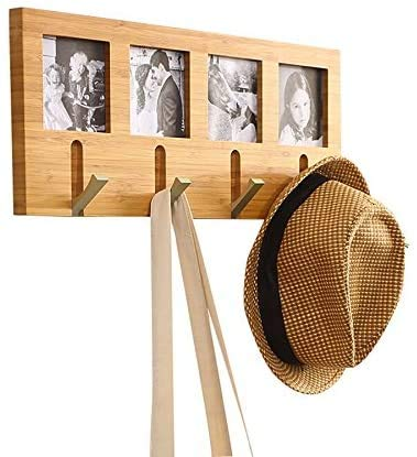 Wandrek Kapstok Woonkamer Slaapkamer Wall Mount Rack displayhanger + Photo Frame HAOSHUAI