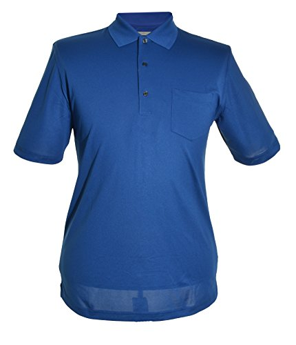 Greg Norman Mens Play Dry Shirt (Blue, Medium)
