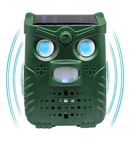 N3 ZELEK Repelente de Gatos DISEÑO MÁS NUEVO2020 Recargable por Solar Agregar por USB Repelente Ultrasónico de Plagas Gato Scarer Disuasor de Zorro Repelente de Jardín Cama de Gato Espantapájaros