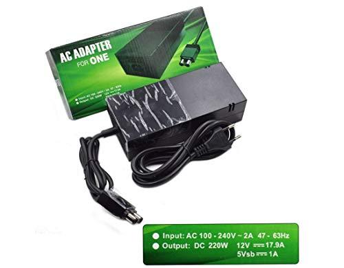 LWTOP Caja Xbox Una Fuente de alimentación de Xbox Poder Único Bloque de alimentación Power Block Reemplazo del Cable de Fuente de alimentación Original del Cable para Microsoft Xbox One