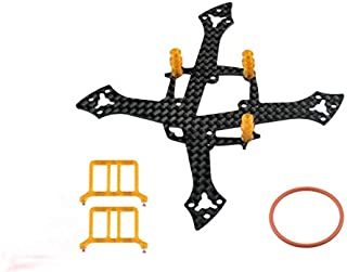 Microheli Carbon Fiber Frame Without Ducted (Orange) - MOBULA7