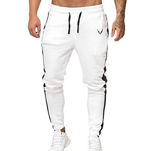 Sylar Pantalones Deportivos Hombre Pantalones Largos para Hombre Pantalones De Rayas Hombre Pantalones Chandal Hombre Cinturón De Cintura Elástico Jogging Pantalones Pitillo