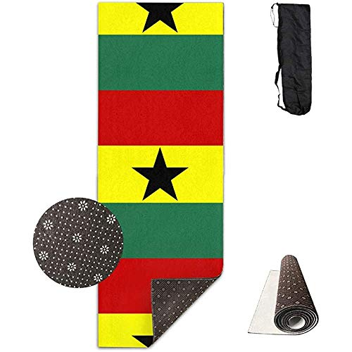 KDU Fashion Exercise Mat, Ghana vlag modeprint fitness yoga matten voor thuis indoor yoga