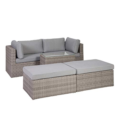 Greemotion Palma Rattan Lounge-Set, grau - 2