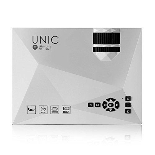 『UNIC UC46 LEDプロジェクター 1080P WIFI無線接続 1200ルーメン IOS10も対応 ホームシアター 会議用 (白)』の4枚目の画像