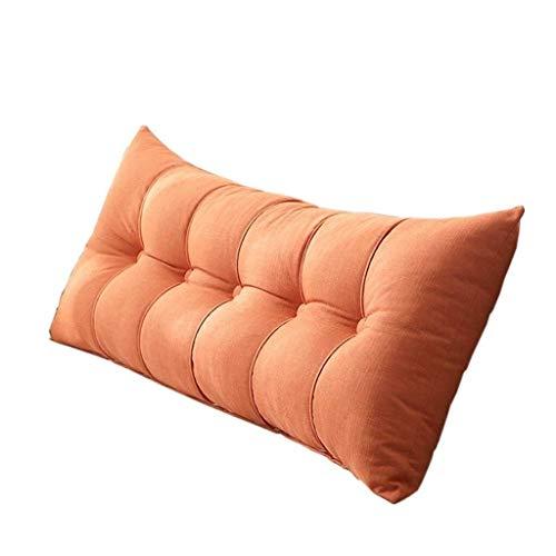 JKL J-Almohada Cama Doble Cojín, Sofá Cama Larga Almohada Grande Amortiguador Trasero Tatami extraíble, for Sofá Cama Inicio (Color : Orange, Size : 100×20×60cm)