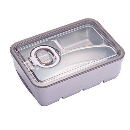 Lunchbox Bento Box For Adults Stainless Steel, Double Layer Original Lunch Food Containers, Durable Leak-Proof Portable Layered Box For Tableware And Seasonings,Bento-Styled Lunch Solution Offers Dura