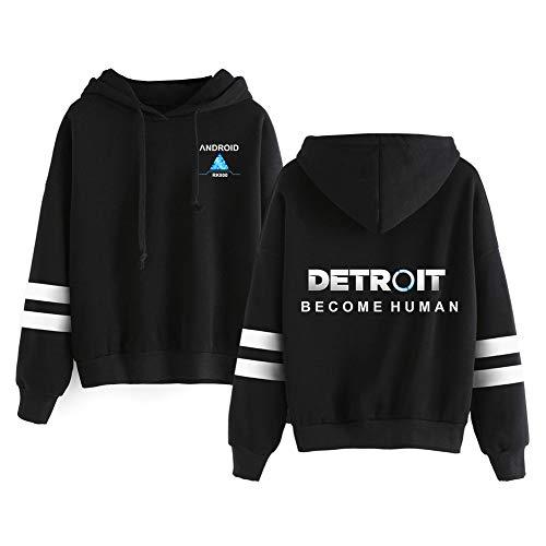 Haililais Detroit Become Human Sweat-Shirts Pull en Vrac imprimé Pulls Pulls Respirants à Motifs Sweatshirts Pull à Manches Longues Unisex (Color : Black02, Size : S)