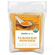 Healthworks Turmeric Powder (16 Ounces / 1 Pound)   Ground Raw Organic   Curcumin & Antioxidants   Keto, Paleo, Vegan, Non-GMO   Anti-Inflammatory
