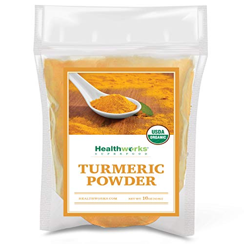 Healthworks Turmeric Powder (16 Ounces / 1 Pound) | Ground Raw Organic | Curcumin & Antioxidants | Keto, Paleo, Vegan, Non-GMO | Anti-Inflammatory