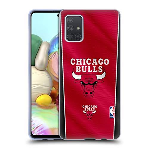 Head Case Designs Oficial NBA Pancarta Chicago Bulls Carcasa de Gel de Silicona Compatible con Samsung Galaxy A71 (2019)